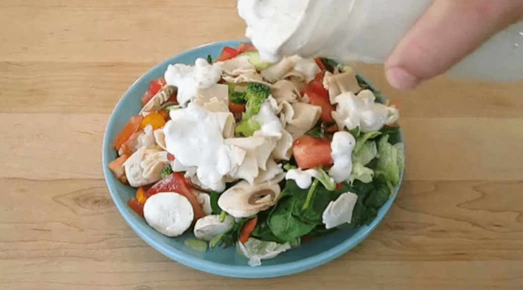 blue cheese dressing with delicious chunks  free stuffs ng